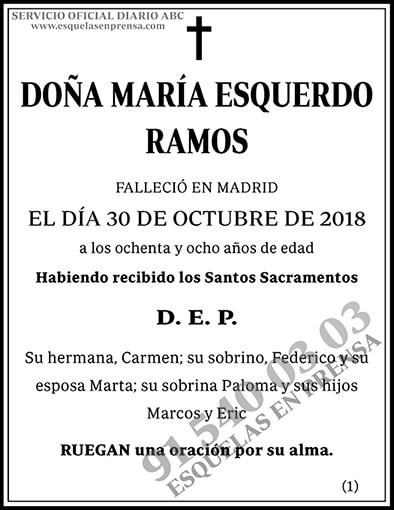 María Esquerdo Ramos